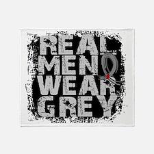D Diabetes Real Men Wear Grey Throw Blanket