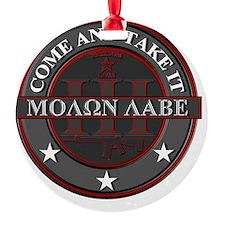 Molon Labe (Red/Grey) Ornament