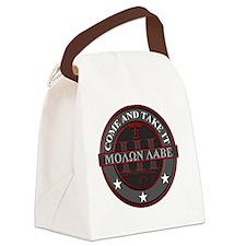 Molon Labe (Red/Grey) Canvas Lunch Bag