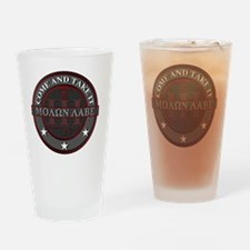 Molon Labe (Red/Grey) Drinking Glass