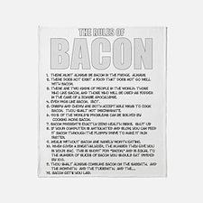 Bacon List Throw Blanket