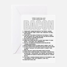 Bacon List Greeting Card