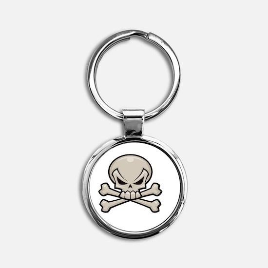 GIA Logo White Round Keychain