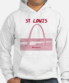 StLouis_12x12_GatewayArch_red Jumper Hoodie