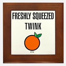 Freshly Squeezed Twink Framed Tile