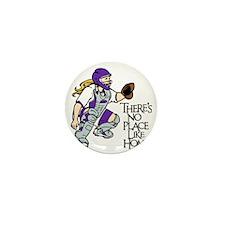 Purple No Place Like Home Mini Button
