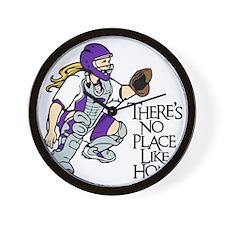 Purple No Place Like Home Wall Clock