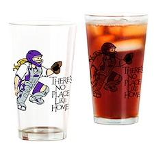 Purple No Place Like Home Drinking Glass