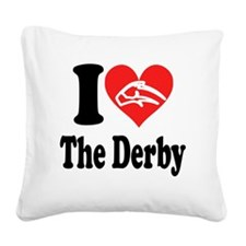 I Heart The Derby Square Canvas Pillow
