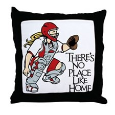 red No Place Like Home Throw Pillow
