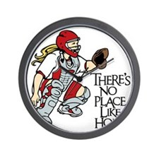 red No Place Like Home Wall Clock