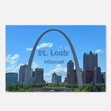 StLouis_5x3_sticker_StLou Postcards (Package of 8)