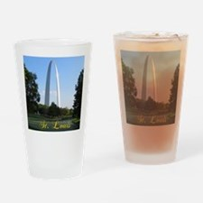 StLouis_7x10_Tall_GatewayArch_color Drinking Glass