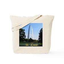 StLouis_7x10_Tall_GatewayArch_color_big Tote Bag