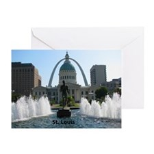 StLouis_10x8_Rect_DowntownStLouis_Ol Greeting Card