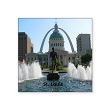"StLouis_10x8_Rect_DowntownS Square Sticker 3"" x 3"""