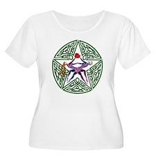 Lover's Pentagram Women's Plus Size Scoop Neck T