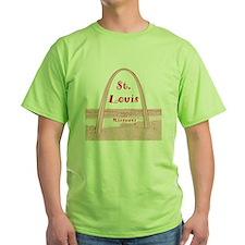 StLouis_10x10_GatewayArch_v2Red T-Shirt