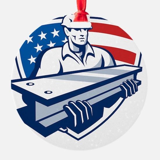 Construction Steel Worker I-Beam Am Ornament