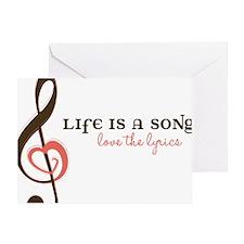 Love The Lyrics Greeting Card