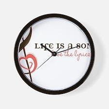 Love The Lyrics Wall Clock