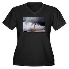 Tornado Fury Women's Plus Size V-Neck Dark T-Shirt