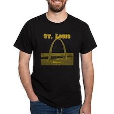 StLouis_12x12_GatewayArch_yellow T-Shirt