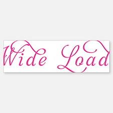 Wide Load Sticker (Bumper)
