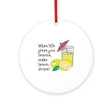 Lemon Drop Martini Round Ornament