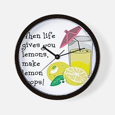 Lemon Drop Martini Wall Clock