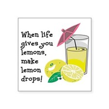 "Lemon Drop Martini Square Sticker 3"" x 3"""
