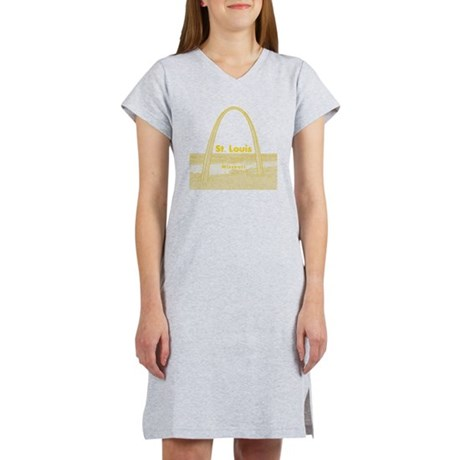 StLouis_10x10_GatewayArch_v1Yel Women's Nightshirt