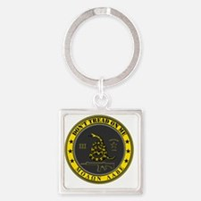 Dont Tread On Me (Yellow/Grey) Square Keychain