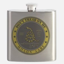 Dont Tread On Me (Yellow/Grey) Flask