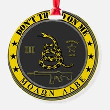 Dont Tread On Me (Yellow/Grey) Ornament