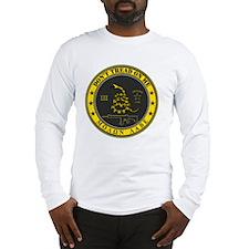 Dont Tread On Me (Yellow/Grey) Long Sleeve T-Shirt