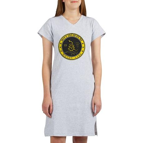 Dont Tread On Me (Yellow/Grey) Women's Nightshirt