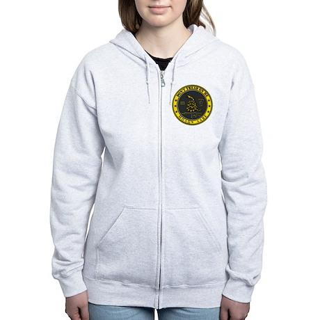 Dont Tread On Me (Yellow/Grey) Women's Zip Hoodie