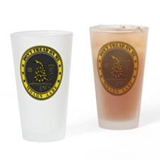 Dont Tread On Me (Yellow/Grey) Drinking Glass