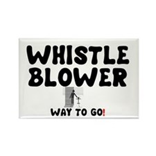 WHISTLE BLOWER - WAY TO GO! Rectangle Magnet