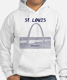 StLouis_12x12_GatewayArch_blue Jumper Hoodie