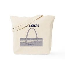 StLouis_12x12_GatewayArch_blue Tote Bag