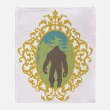 Bigfoot Vintage Throw Blanket
