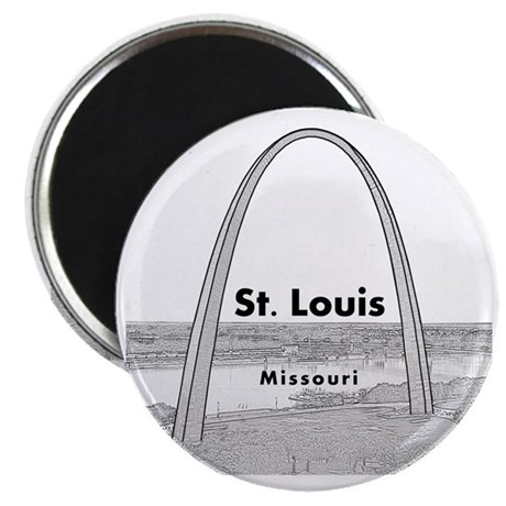 StLouis_10x10_GatewayArch_v1Black Magnet