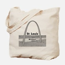StLouis_10x10_GatewayArch_v1Black Tote Bag
