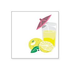 "Lemon Drop Martini Square Sticker 3"" x 3"""
