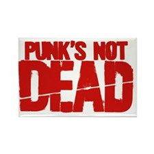 Punks Not Dead Rectangle Magnet