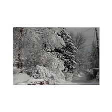 Winter Scene Rectangle Magnet