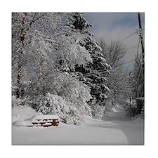 Winter Scene Tile Coaster