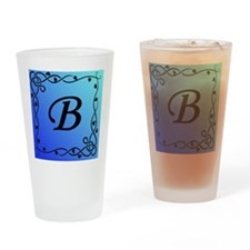 Initial_B Drinking Glass